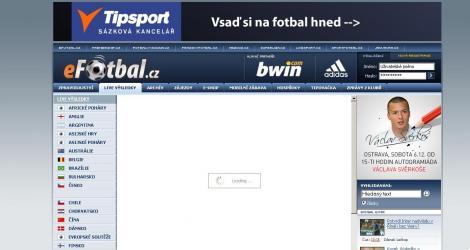 eFotbal.cz– Live výsledky bez JavaScriptu