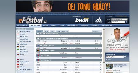 eFotbal.cz– Live výsledky